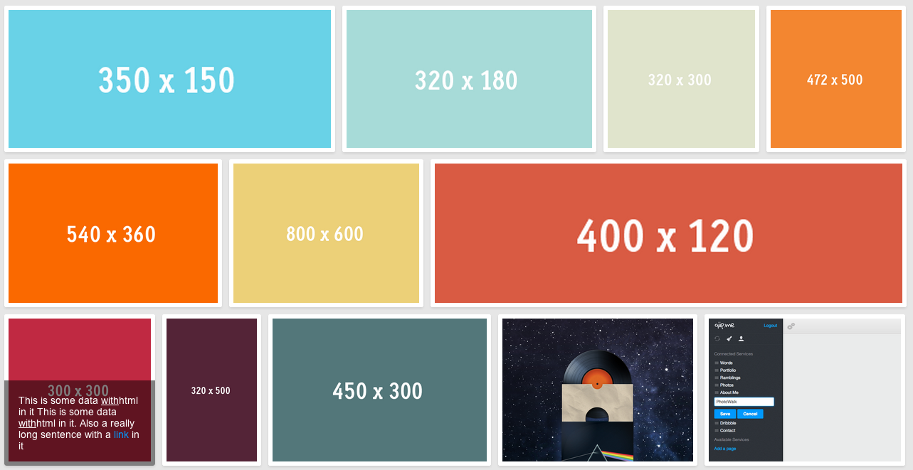 jQuery Collage Plus
