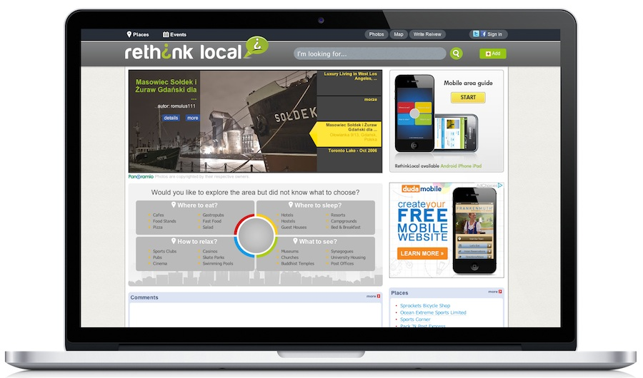 Web and Mobile guide for local business